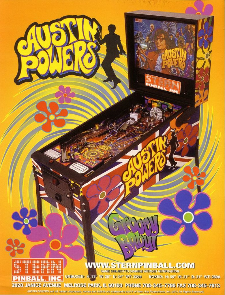Cartel Austin Power pinball