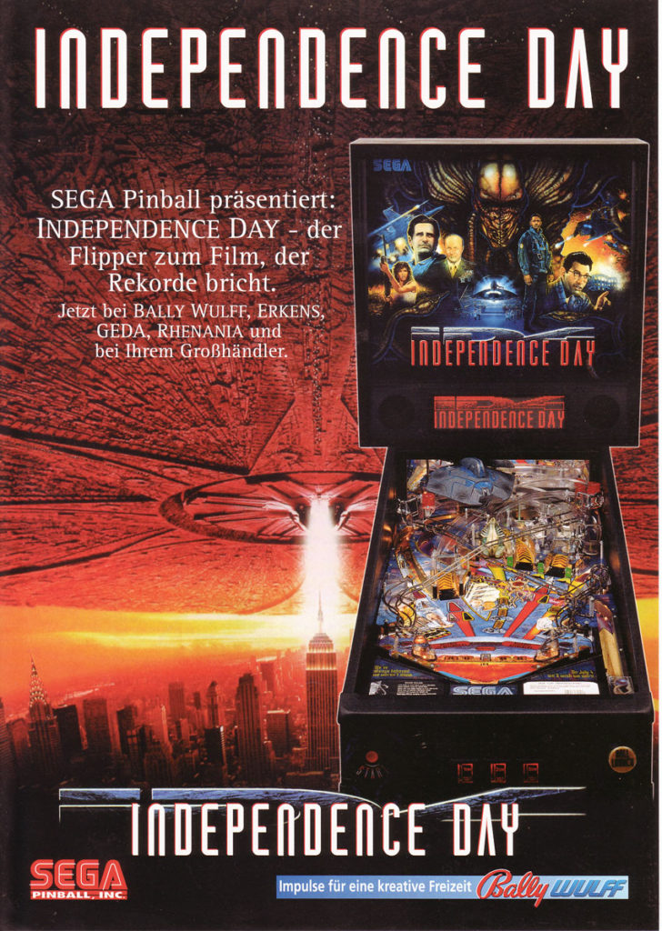 Independence day Cartel pinball