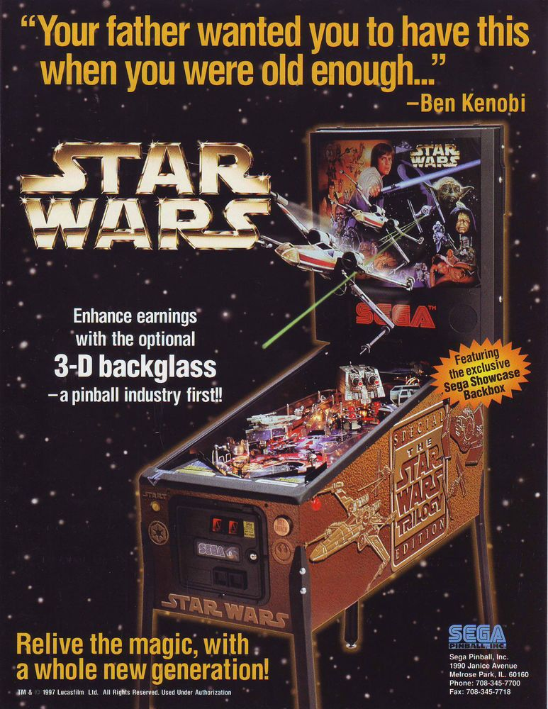 Cartel Star Wars pinball